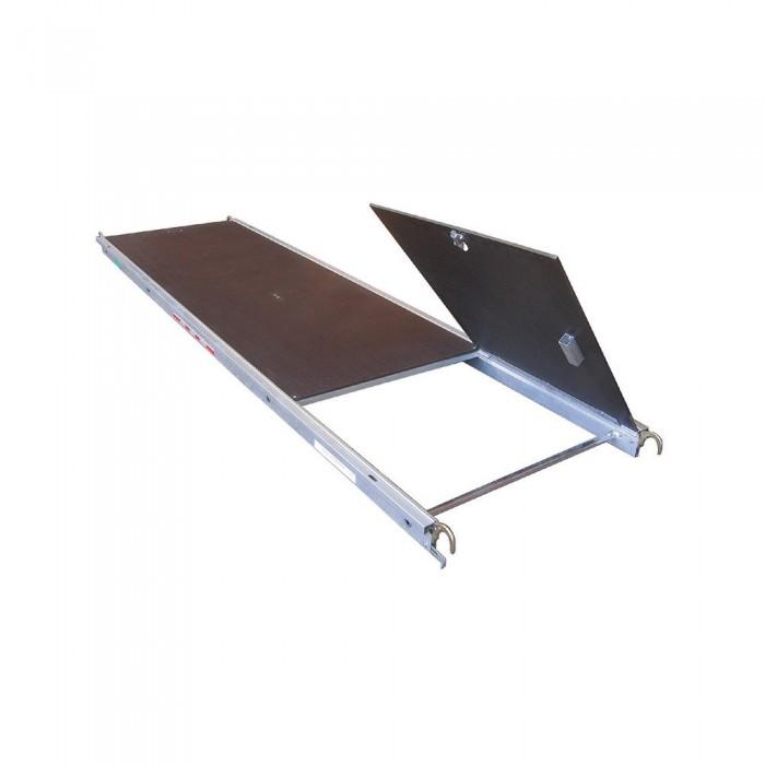 Plataforma alu/fenolico con trampilla