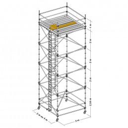 Nivel de Inicio Torre Móvil Galvanizada