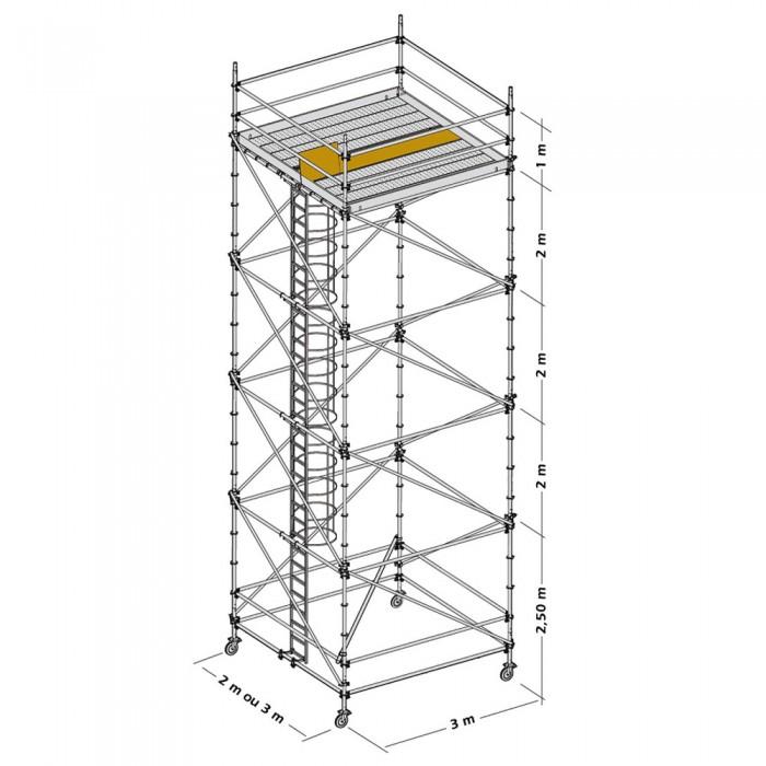 Nivel de Trabajo Torre Móvil Galvanizada
