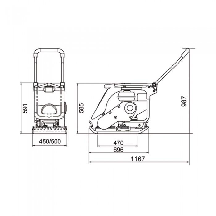 Plancha Vibrante PCX 17/50A