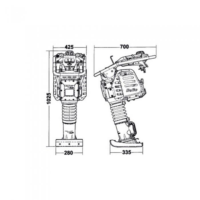 Pisón Compactador RTX 66